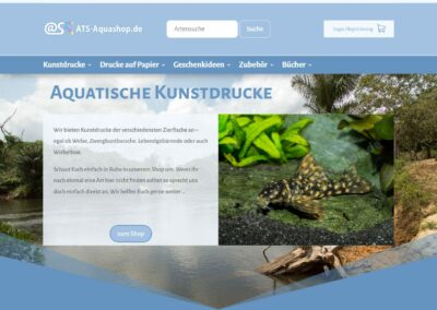 ATS-Aquashop.de: Webshop 2.0 Online