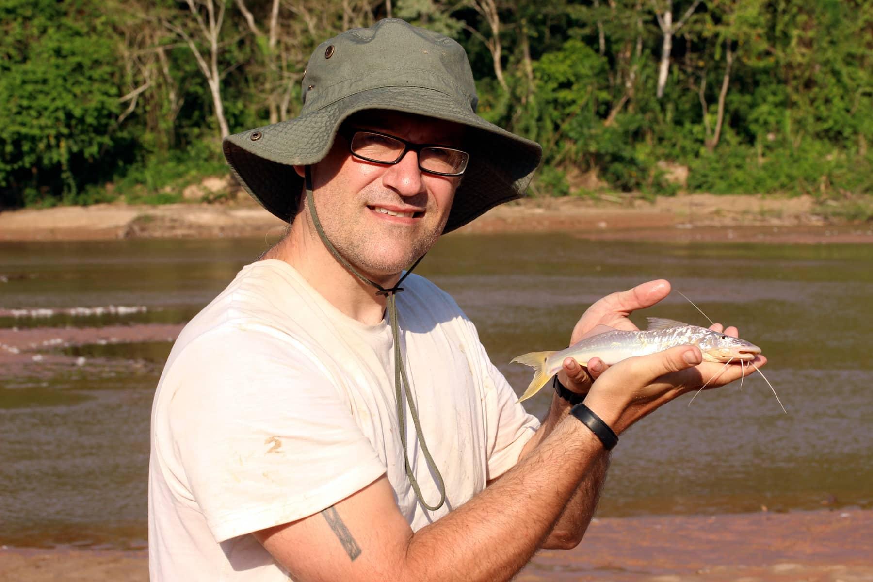 Steven Grant with Megalonema in Bolivia from Daniel Konn-Vetterlein